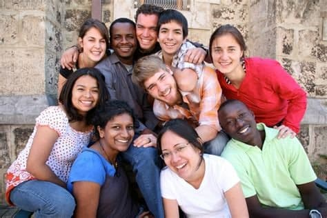 Diverse ethinic group of student