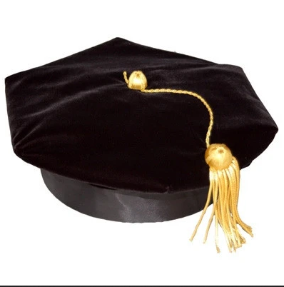 Close-up of Tam (cap) with Gold Doctoral Tassel.