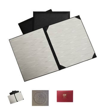 Genuine Leather Diploma Covers with Personalized Logo Emboss/or logo in Gold Foil