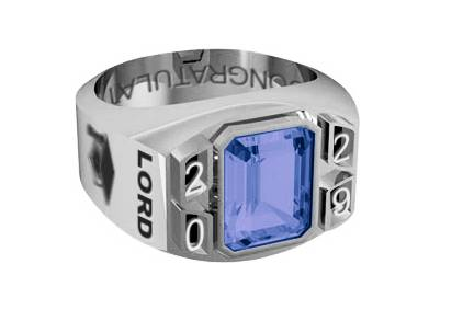 Modern style rectangular Graduation Ring. All specs are the same. Free Engraving-Year of your choice